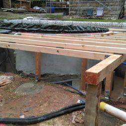 unterkonstruktion bpc wpc poolterrasse 26 - Projekt Poolterrasse – Bau der freistehenden Unterkonstruktion für die BPC Dielen