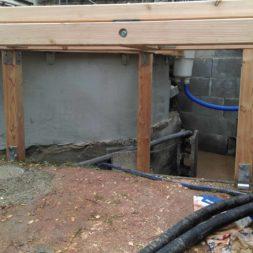 unterkonstruktion bpc wpc poolterrasse 27 - Projekt Poolterrasse – Bau der freistehenden Unterkonstruktion für die BPC Dielen