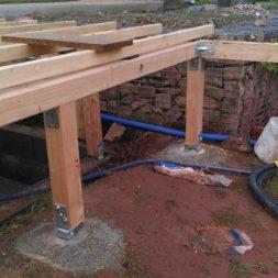unterkonstruktion bpc wpc poolterrasse 28 - Projekt Poolterrasse – Bau der freistehenden Unterkonstruktion für die BPC Dielen