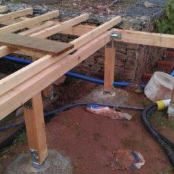 unterkonstruktion bpc wpc poolterrasse 29 - Projekt Poolterrasse – Bau der freistehenden Unterkonstruktion für die BPC Dielen