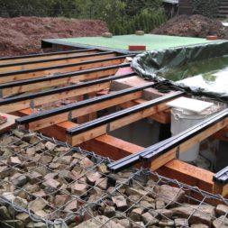 unterkonstruktion bpc wpc poolterrasse 32 - Projekt Poolterrasse – Bau der freistehenden Unterkonstruktion für die BPC Dielen