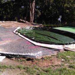 unterkonstruktion bpc wpc poolterrasse 7 - Projekt Poolterrasse – Bau der freistehenden Unterkonstruktion für die BPC Dielen