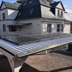 Carport Photovoltaik auf dem Dach 2 - Neuer Carport mit Photovoltaik auf dem Dach