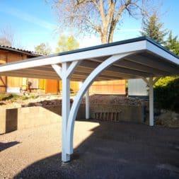 IMG 20190418 084631 1 - Neuer Carport mit Photovoltaik auf dem Dach