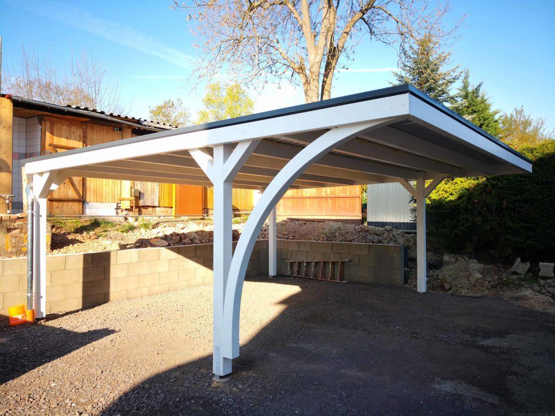 IMG 20190418 084631 - Neuer Carport mit Photovoltaik auf dem Dach