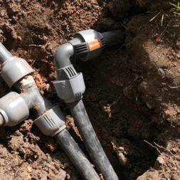 Einbau einer Rasenbewaesserung Neuer Regnerkreis 1 - Planung und Installation einer Rasenbewässerungsanlage