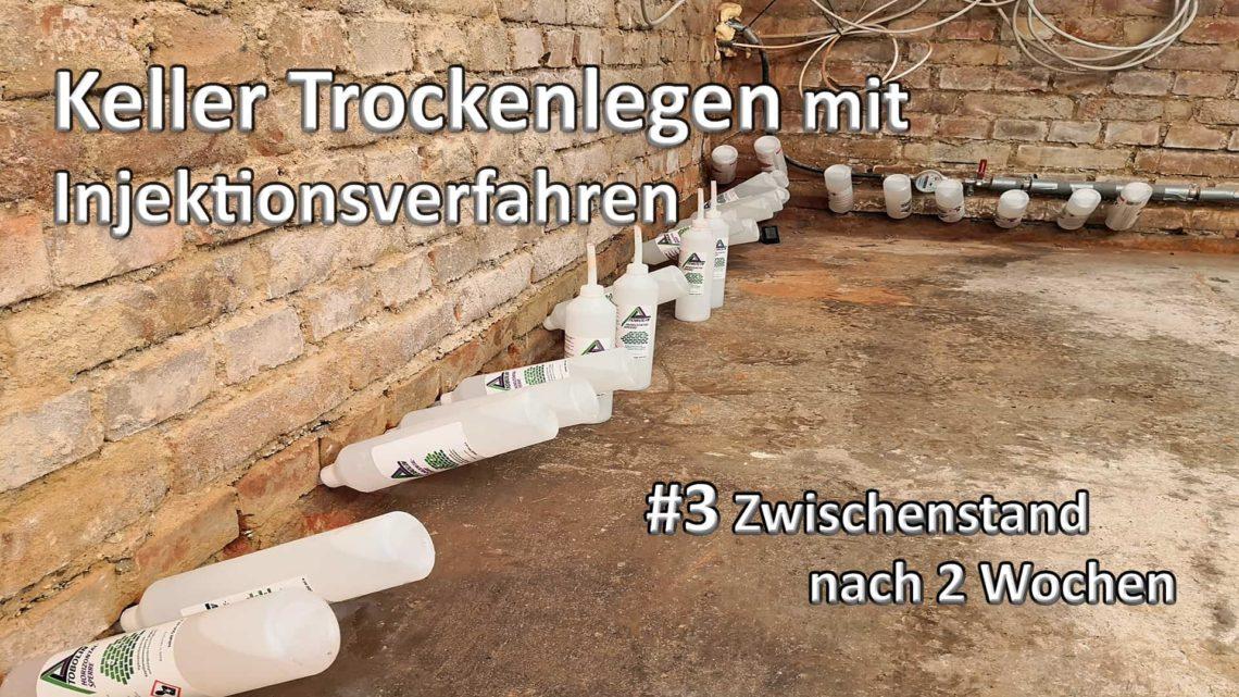 Keller Trockenlegen mit Injektion 3 Zwischenstand nach 2 Wochen - Keller Trockenlegen mit Injektion - #3 Zwischenstand nach 2 Wochen