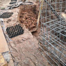 IMG 20200219 160426 - Hang mit Gabionen sichern - Ecken und Kurven bauen   Körbe ausrichten