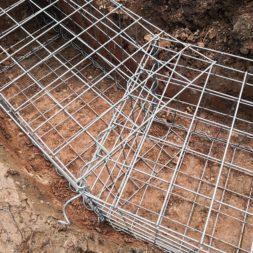 IMG 20200219 165021 - Hang mit Gabionen sichern - Ecken und Kurven bauen   Körbe ausrichten