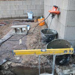 Carport bauen Fundamente mit KG setzen35 - Carport selber bauen - Pfostenanker setzen