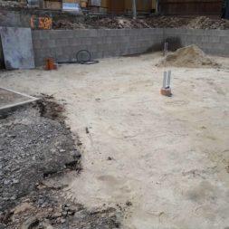 Carport bauen Fundamente mit KG setzen37 - Carport selber bauen - Pfostenanker setzen
