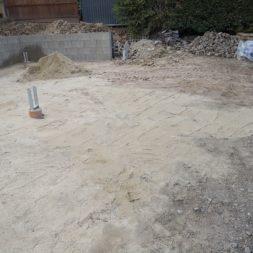 Carport bauen Fundamente mit KG setzen38 - Carport selber bauen - Pfostenanker setzen
