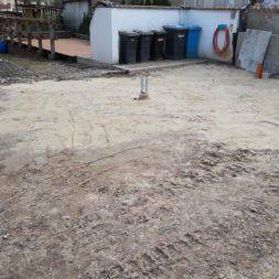 Carport bauen Fundamente mit KG setzen40 - Carport selber bauen - Pfostenanker setzen