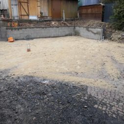 Carport bauen Fundamente mit KG setzen42 - Carport selber bauen - Pfostenanker setzen