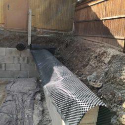 Carport bauen Stuetzmauer am hang bauen36 - Carport selber bauen - Hang mit Schalsteinen sichern