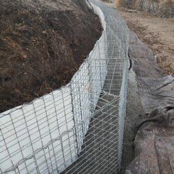 Kurve mit Gabionen bauen4 - Hang mit Gabionen sichern - Ecken und Kurven bauen