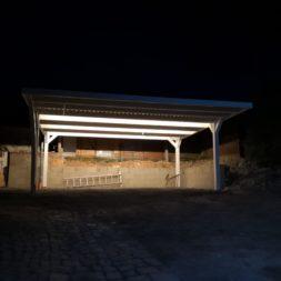 IMG 20190415 210810 - Carport mit LED Lichtband ausleuchten - Kamera und Bewegungsmelder installieren