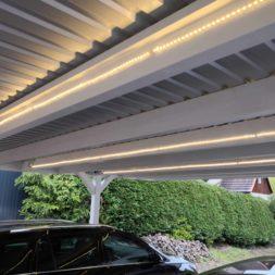 IMG 20190428 090524 - Carport mit LED Lichtband ausleuchten - Kamera und Bewegungsmelder installieren