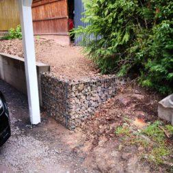 IMG 20190428 090803 1 - Carport selber bauen - Hang mit Gabionen abfangen