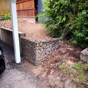 IMG 20190428 090803 - Carport selber bauen - Hang mit Gabionen abfangen
