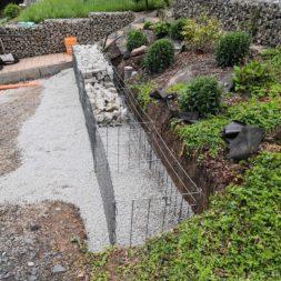 Hangsicherung und Hochbeet bauen mit Gabionen 027 - Gabionen Mauer am Hang ausbauen und erweitern | Hangsicherung | Hochbeet