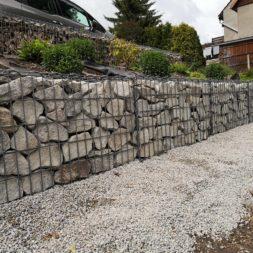 Hangsicherung und Hochbeet bauen mit Gabionen 032 - Gabionen Mauer am Hang ausbauen und erweitern | Hangsicherung | Hochbeet