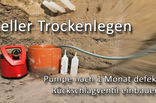Keller Trockenlegen Neue Pumpe defekt Rueckschlagventil einbauen - Keller Trockenlegen - Neue Tauchpumpe nach 1 Monat zerstört