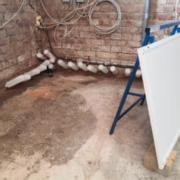 Keller Trockenlegen Inkektion 16 - Keller Trockenlegen mit Injektion #4 - Woche 3 Infrarotheizung kommt zum Einsatz