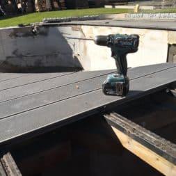 BPC Pool Terrasse umbauen 3 - Pool umbauen - Rückbau Pool Terrasse | BPC Dielen | Unterkonstruktion | Pool-Technik