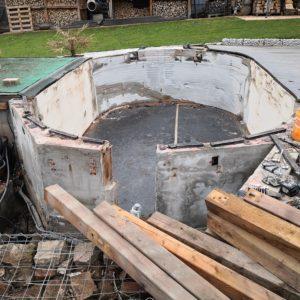 BPC Pool Terrasse umbauen 60 - Pool umbauen - Rückbau Pool Terrasse | BPC Dielen | Unterkonstruktion | Pool-Technik