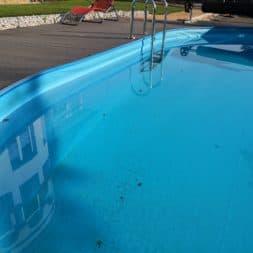 Luftblasen unter Poolfolie 2 - Pool Umbau - Rückbau vom Stahlwandpool