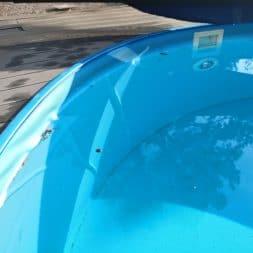 Luftblasen unter Poolfolie 3 - Pool Umbau - Rückbau vom Stahlwandpool