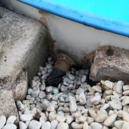 Luftblasen unter Poolfolie 4 - Pool Umbau - Rückbau vom Stahlwandpool
