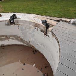 Pool umbauen Abriss Stuetzwaende Einschalung entfernen 17 - Poolumbau – Abriss Stützwände und Einschalung entfernen