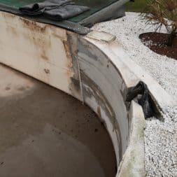 Pool umbauen Abriss Stuetzwaende Einschalung entfernen 18 - Poolumbau – Abriss Stützwände und Einschalung entfernen