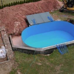 pool aufbau und anschluss 12 - Pool Umbau - Rückbau vom Stahlwandpool