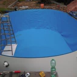 pool aufbau und anschluss 7 - Pool Umbau - Rückbau vom Stahlwandpool