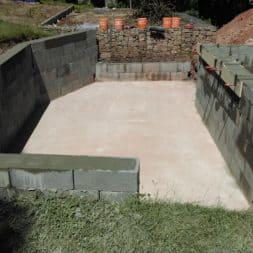 pool schacht und mauerarbeiten 48 - Pool Umbau - Rückbau vom Stahlwandpool