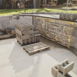 Pool umbauen Waende mauern Bewehrung einbauen 13 - Pool umBAUEN – Pool planen | 3D Grundriss erstellen | Welche Einbauteile sollen verbaut werden?