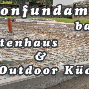 Betonfundament im Garten bauen Gartenhaus Gartenkueche - Betonfundament im Garten bauen – Gartenküche – Tierhaus - Voliere