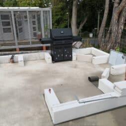Gartenkueche bauen–Sockel und Waende mit Gasbeton Pornbeton Ytong mauern commaik.de 17 - Gartenküche bauen #2 – Sockel und Wände mit Gasbeton mauern