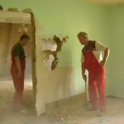 dscn5067 - Gipswände verspachteln und Fachwerk einbinden in der Küche