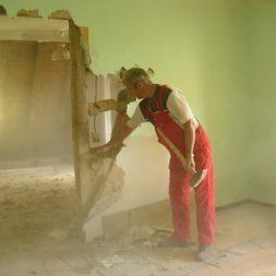 dscn5069 - Entkernen des Wohnzimmers - Trockenbauvorbereitungen