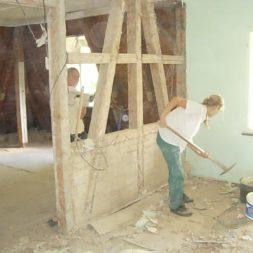 dscn5075 - Entkernen des Wohnzimmers - Trockenbauvorbereitungen