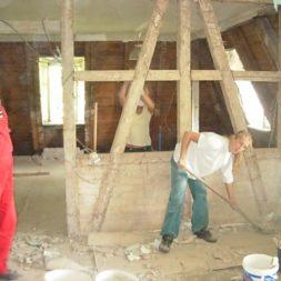 dscn5077 - Gipswände verspachteln und Fachwerk einbinden in der Küche