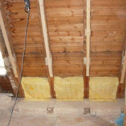 dscn5349 - Rohbau in der neuen Küche - Dämmung und Installationen