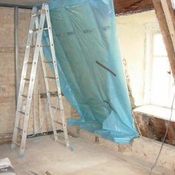 dscn5350 - Rohbau in der neuen Küche - Dämmung und Installationen