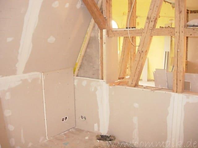 dscn5586 - Gipswände verspachteln und Fachwerk einbinden in der Küche