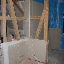 dscn5770 - Gipswände verspachteln und Fachwerk einbinden in der Küche