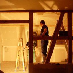 dscn5812 - Gipswände verspachteln und Fachwerk einbinden in der Küche